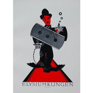 1923 Original German Poster, Elysium Klinger (Charlie Chaplin) For Sale