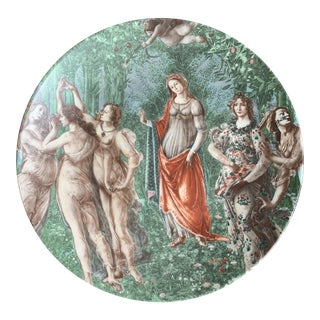 20th Century Botticelli Limoges Plate For Sale
