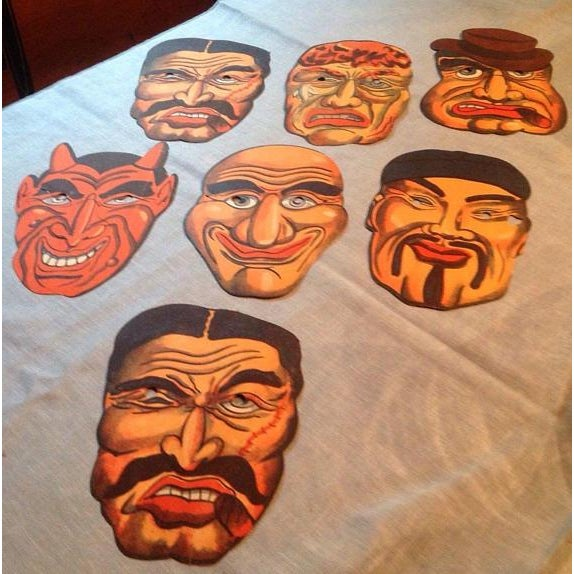 1940's Vintage Halloween Masks - Set of 7 - Image 2 of 5