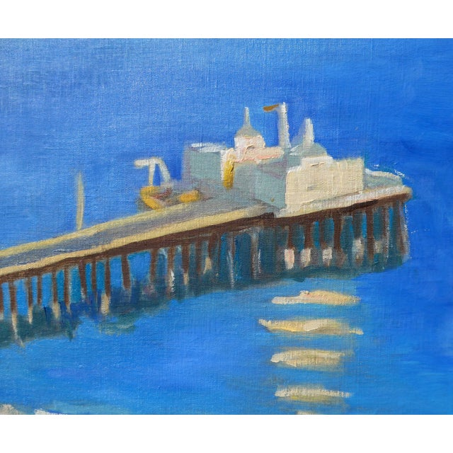 """""""Malibu Pier, California"""" Contemporary Oil Painting by Martha Holden For Sale In Los Angeles - Image 6 of 8"""