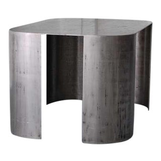 """Vintage Mid Century Luten Clarey Stern Custom-Made """"Andrew"""" Steel Low Table For Sale"""