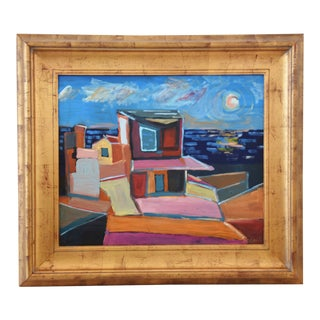 Abstract Cityscape Painting by Juan Pepe Guzman For Sale