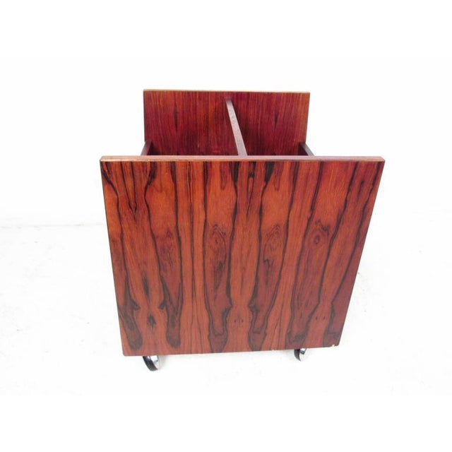 Mid-Century Modern Mid-century Modern Rosewood Magazine Cart by Bruksbo For Sale - Image 3 of 9