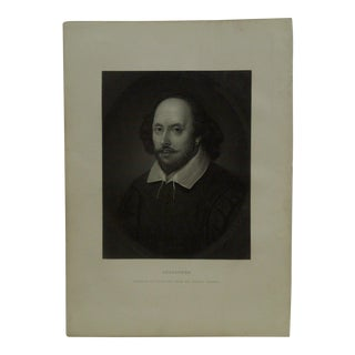 """Vintage 1890s """"Shakepere"""" Works of Shakespeare Imperial Edition Engraving by Chandos For Sale"""