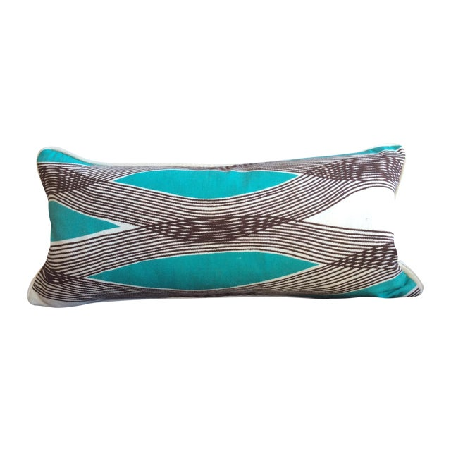 Mid-Century Modern Waves Lumbar Throw Pillow - Image 1 of 7