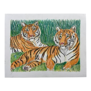 """The Tigers Are Greener"" Drawing For Sale"