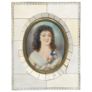Miniature Portrait of a Beautiful Young Lady For Sale
