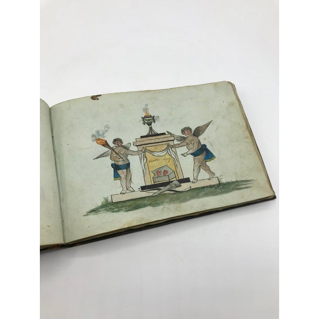 French Antique French Personal Leather Journal For Sale - Image 3 of 13