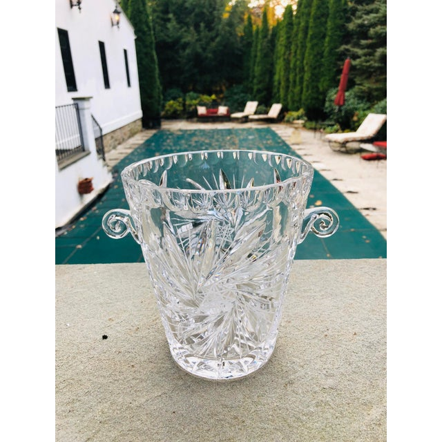 Antique American Brilliant Cut Glass Ice or Wine Bucket For Sale - Image 4 of 9