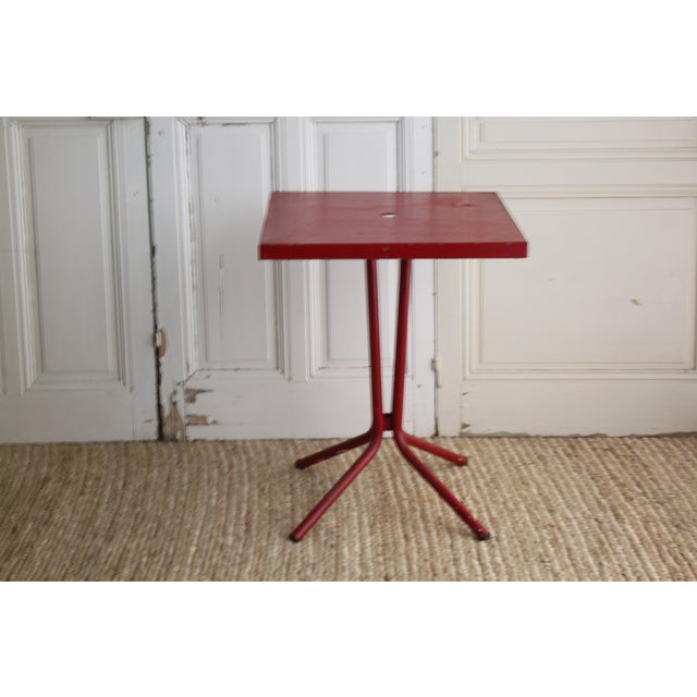 Vintage French Red Garden Table - Image 5 of 8