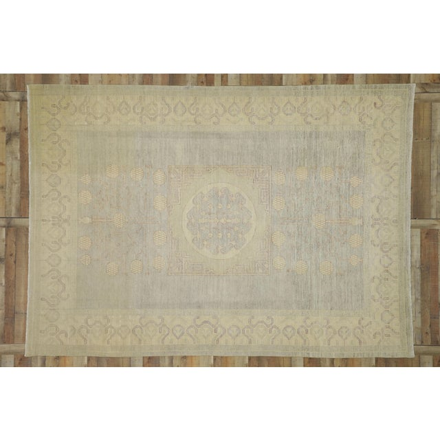 Taupe Transitional Khotan Style Area Rug - 8'9 X 12'2 For Sale - Image 8 of 10