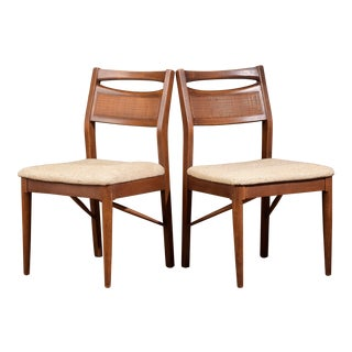 Mid-Century American of Martinsville Cane Back Dining Chairs - a Pair For Sale