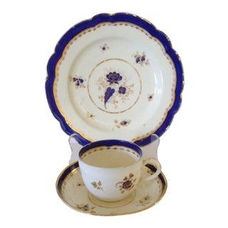 Early Gilt Porcelain Trio For Sale