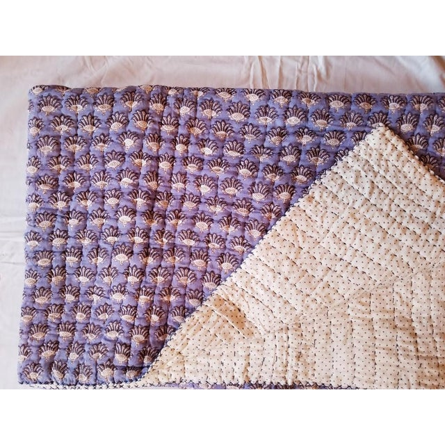 Boho Chic Roberta Roller Rabbit Twin Purple Quilt For Sale - Image 4 of 7