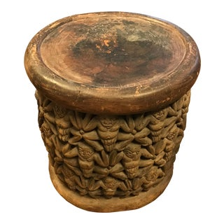 Bamileke Tribe, Carved African Wooden Stool/Table, Vintage For Sale