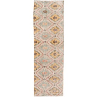 Mid-20th Century Vintage Turkish Wool Runner For Sale