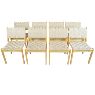 Set of Eight Alvar Aalto 615 Chairs