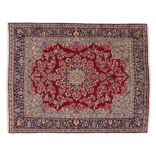 """Modern Traditional Vintage Persian Kirman Rug With Art Nouveau Style - 9'9"""" X 12'8"""""""