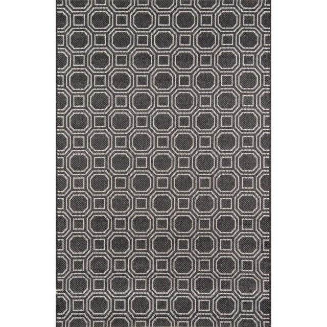 """Gray Erin Gates Downeast Camden Charcoal Machine Made Polypropylene Area Rug 5' X 7'6"""" For Sale - Image 8 of 8"""