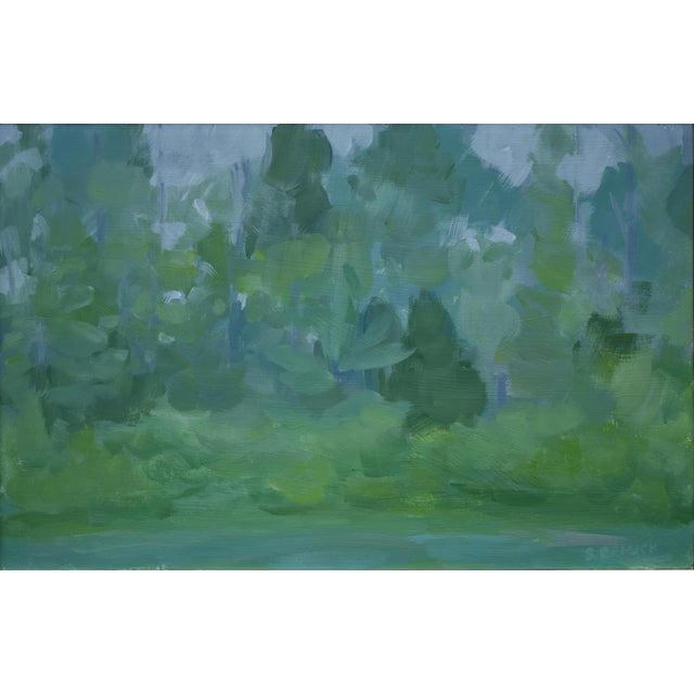 """Paint Stephen Remick, """"Misty Morning"""", Contemporary Plein Air Painting For Sale - Image 7 of 8"""