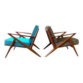 Mid Century Modern Styled Teak Z Lounge Chair Armchair For Sale
