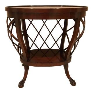 Vintage Biedermeier Style Basket Table