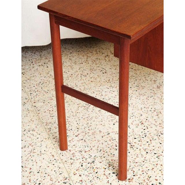 Danish Modern Arne Vodder 1960s Petite Danish Modern Teak Writing Table Desk For Sale - Image 3 of 10