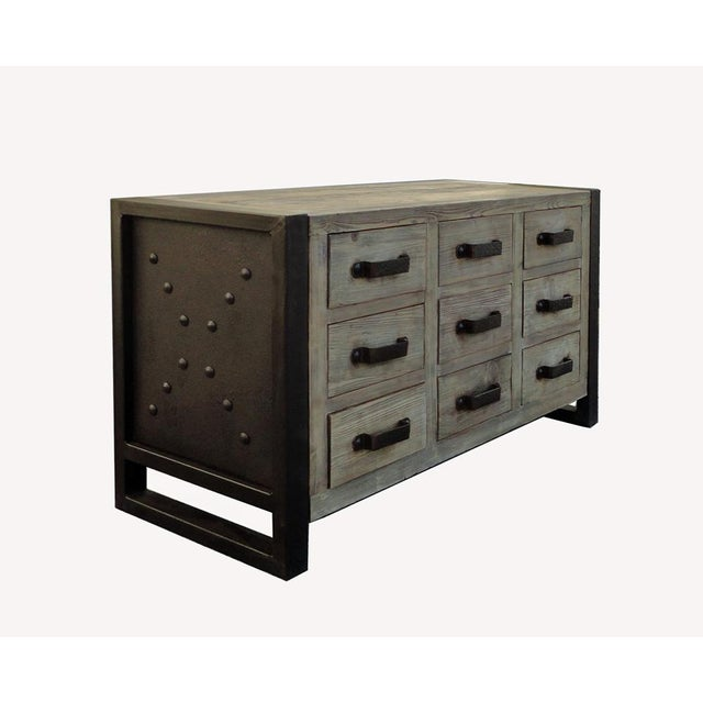 Rustic Wood & Iron Dresser Cabinet - Image 3 of 6