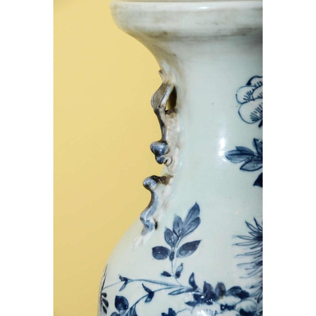 Blue & White Temple Vase - Image 2 of 7