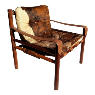 1960s Vintage Scandinavian Rosewood Campaign Chair For Sale