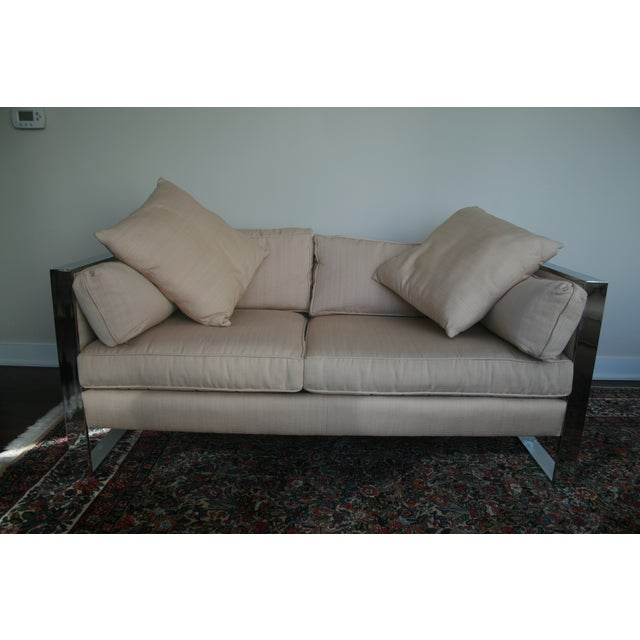 Milo Baughman Chrome Sofa and Loveseat - Image 6 of 11