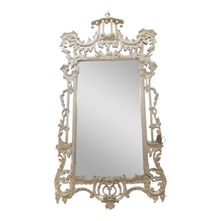White Lacquered Labarge Pagoda Mirror