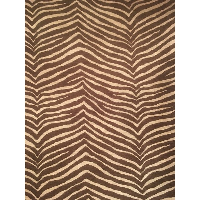 """Contemporary """"Pelt Zebra"""" by Fabricut Fabric by the Yard For Sale - Image 3 of 6"""