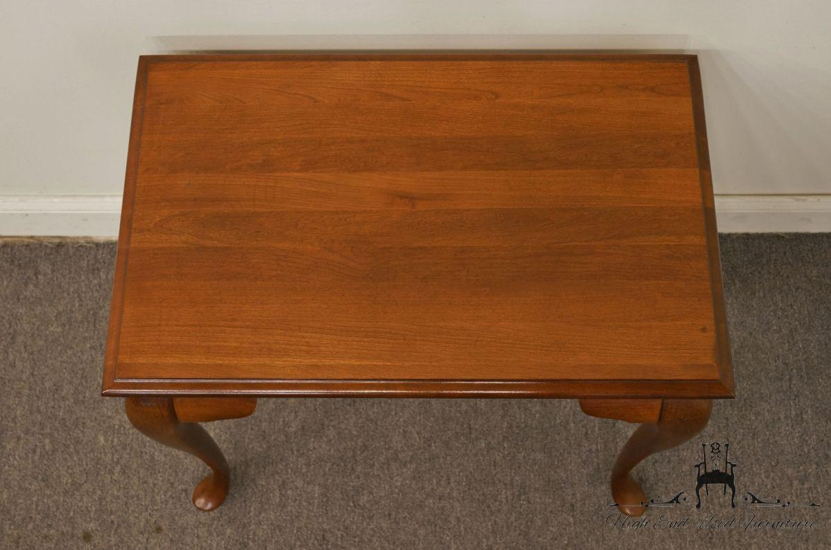 Late 20th Century Broyhill Lenoir House Solid Cherry Tea Table For Sale    Image 5 Of