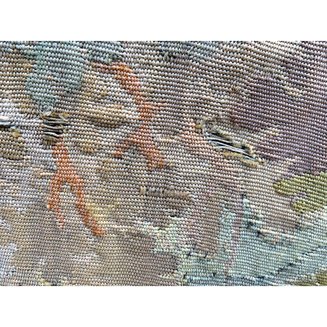 Blue Late 19th Century French Des Bois Tapestry- 6 X 6' For Sale - Image 8 of 13