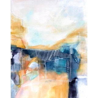 Golden Hour Abstract Painting by Melanie Biehle For Sale