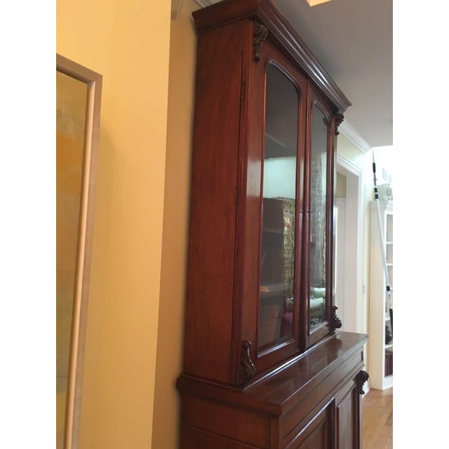 Modern 19th Century Traditional Mahogany Bookcase or China Cabinet For Sale - Image 3 of 11