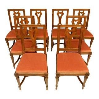 19th C. Louis XVI Walnut Dining Chairs - Set of 8 For Sale
