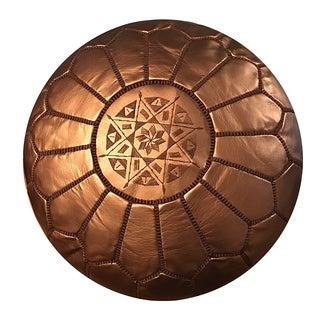 Bronze Pouf by Mpw Plaza (Stuffed) , Moroccan Faux Leather Pouf Ottoman Preview