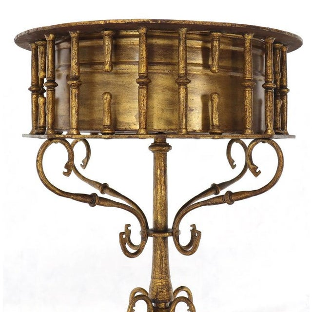 Large Italian Wrought Iron Gold Gilt Planter For Sale - Image 10 of 13