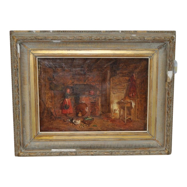 """Alfred Provis """"Young Domestic"""" Original Oil Painting - Image 1 of 10"""
