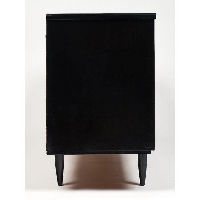 Wood Modernist Danish Chest With Mirrored Top For Sale - Image 7 of 10