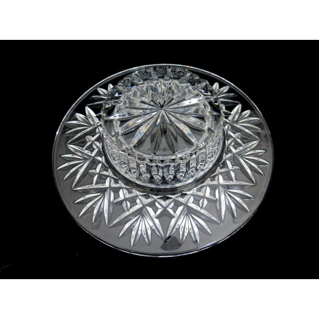 Waterford Pillar Candle Holder/Wine Coaster For Sale In Denver - Image 6 of 11