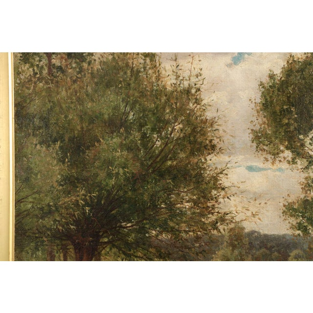 19th Century Landscape Painting of Bridges over Stream by Clarence Roe - Image 3 of 10