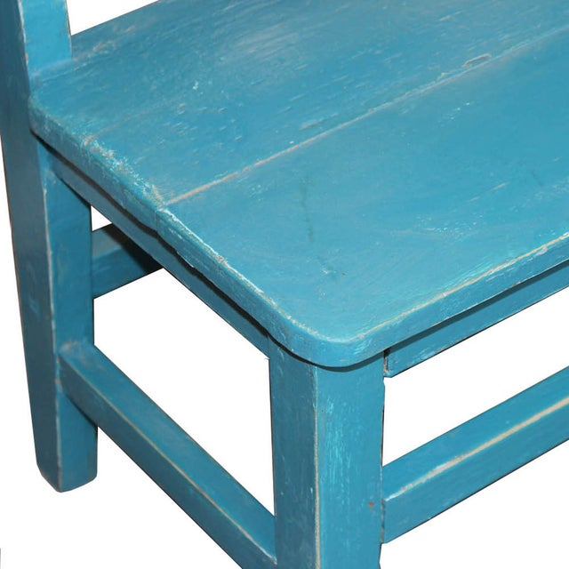 Vintage Blue Child's Bench - Image 3 of 6