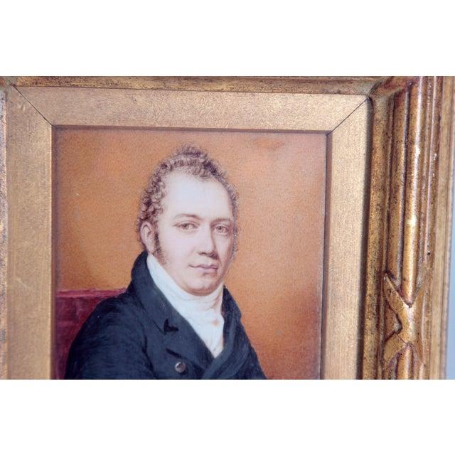 Pair of Well-Painted Portrait Miniatures / Handsome English Regency Gentlemen For Sale - Image 4 of 13