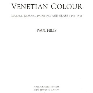 """1999 """"Venetian Colour: Marble, Mosaic, Painting and Glass 1250-1550"""" Coffee Table Book Preview"""