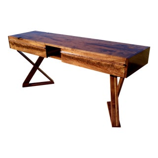 Mid-Century Walnut Campaign For Sale