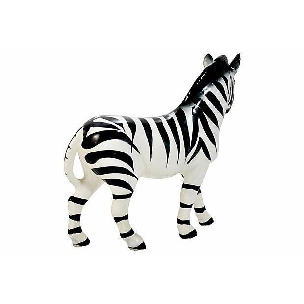 Italian Italian Handmade Zebra Figurine For Sale - Image 3 of 9