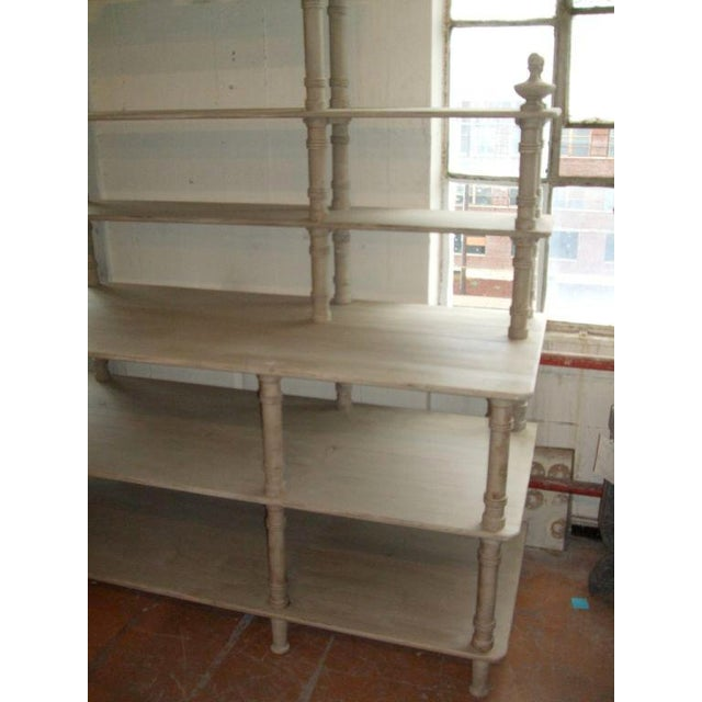 French Grey Painted French Shelving Unit For Sale - Image 3 of 8